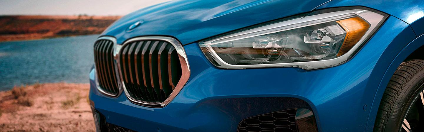 2020 BMW X1 front grille and headlight