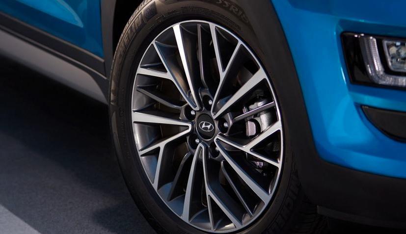 View of Hyundai car tire