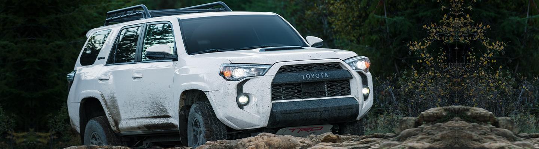 2020 Toyota 4Runner TRD Pro driving through mud