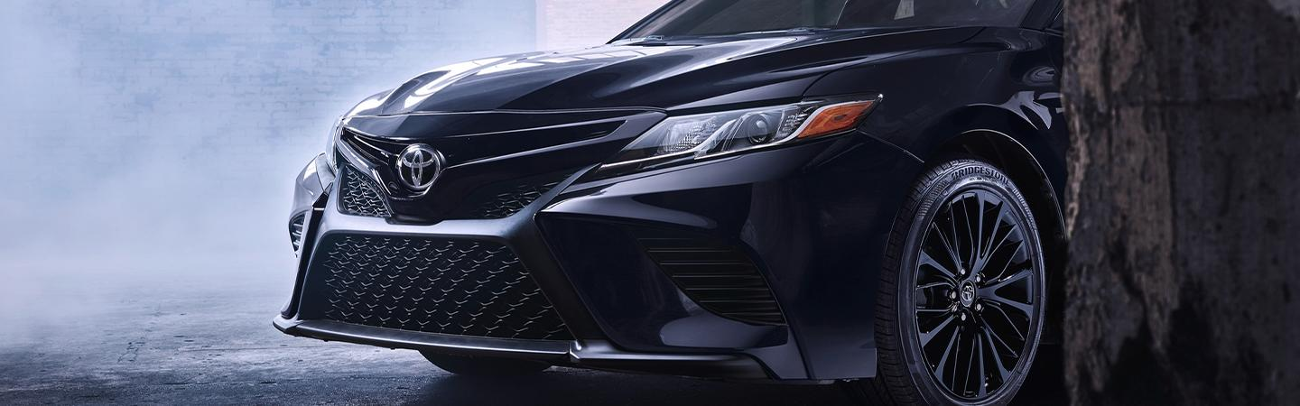 2020 Toyota Camry front grille and Toyota emblem