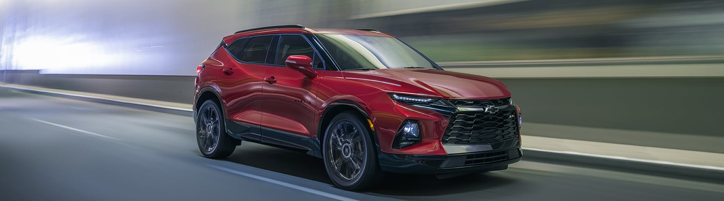 2020 Chevy Blazer in motion