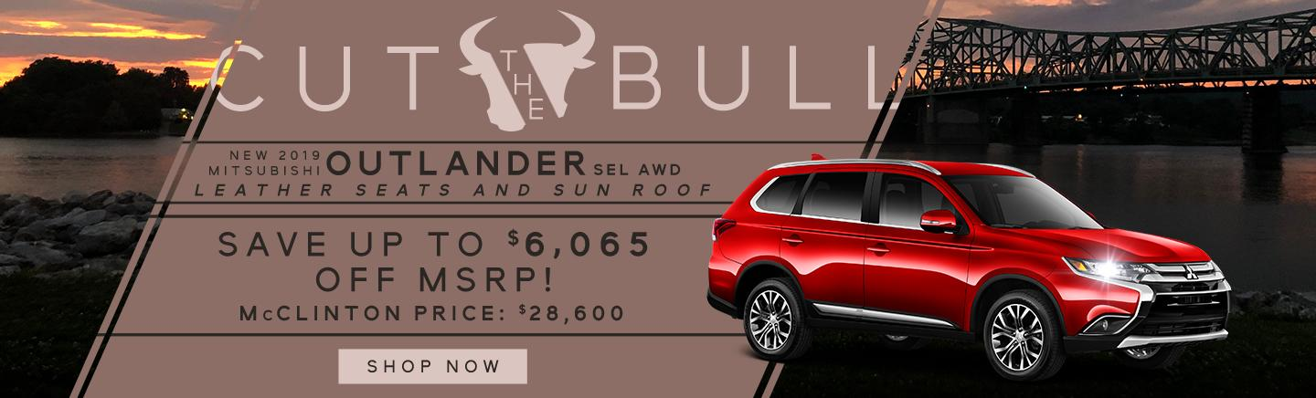 2019 MITSUBISHI OUTLANDER SEL AWD - Save up to $6,065 off MSRP!