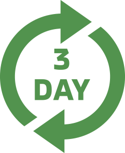 2 arrows forming circle with text '3 day' in middle