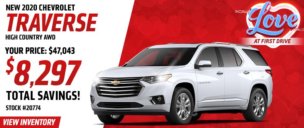 Traverse High Country AWD - $8,297 Total Savings!