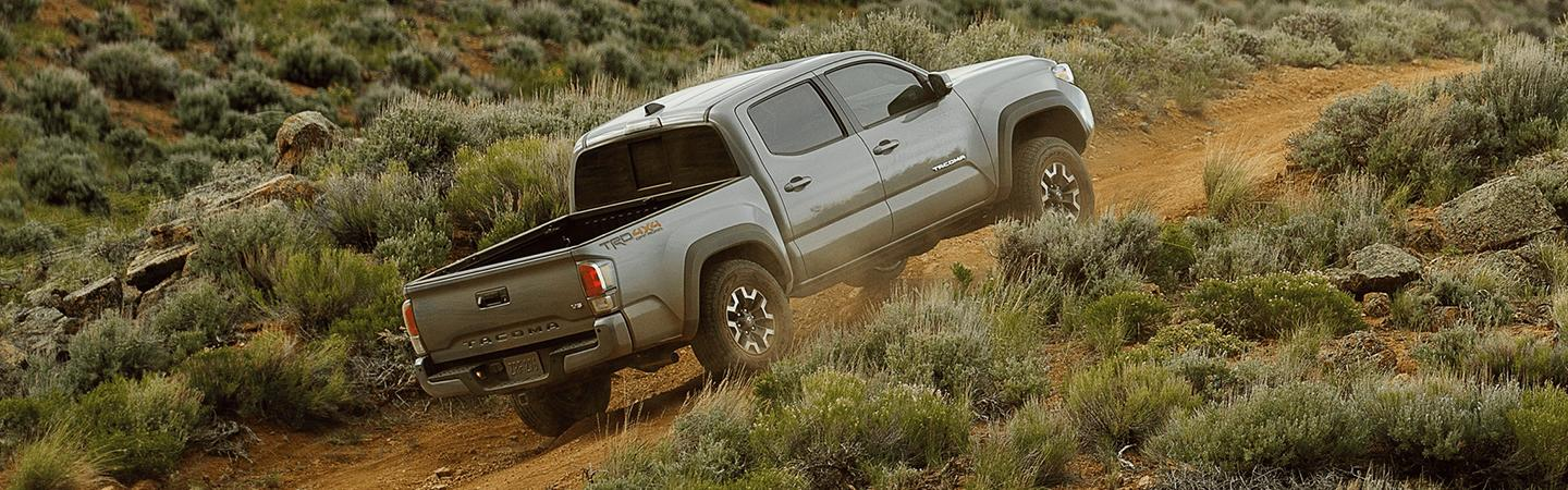 2020 Toyota Tacoma driving uphill