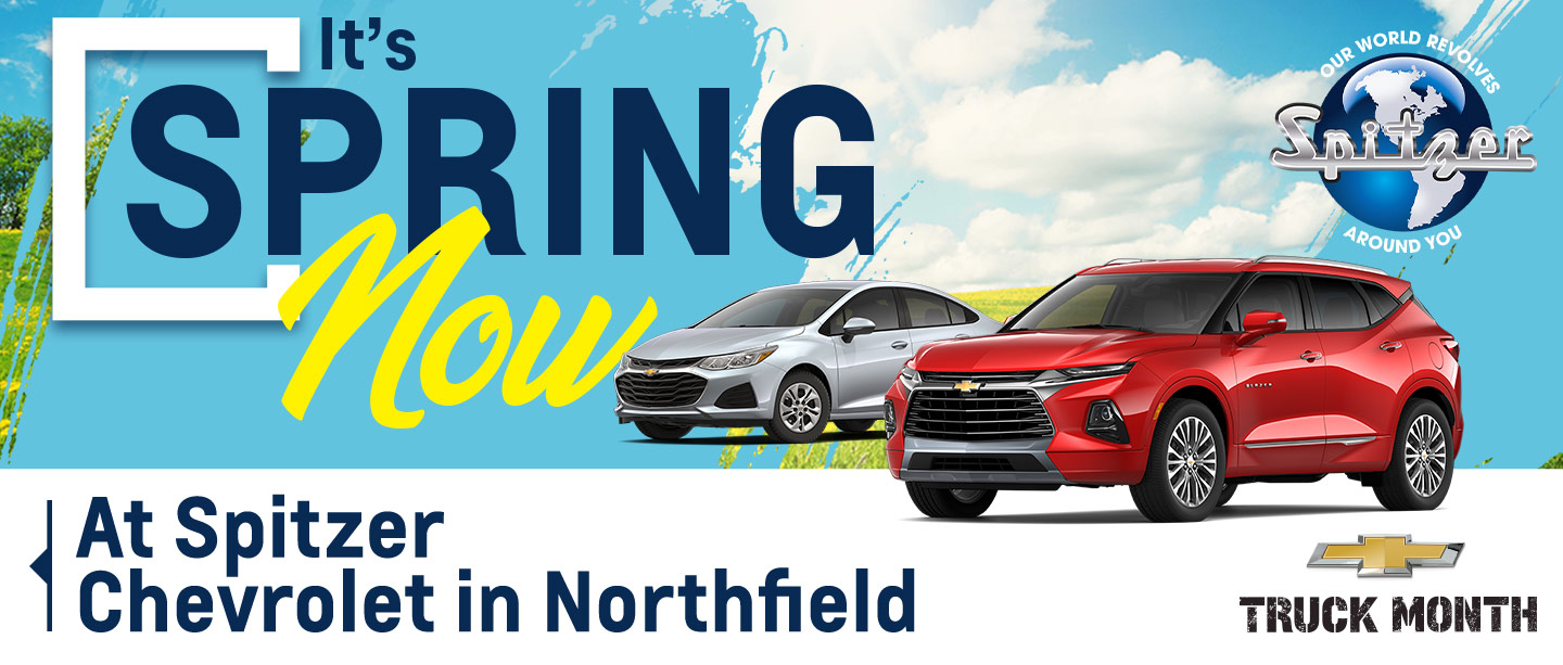 I's Spring Now at Spitzer Chevrolet in Northfield