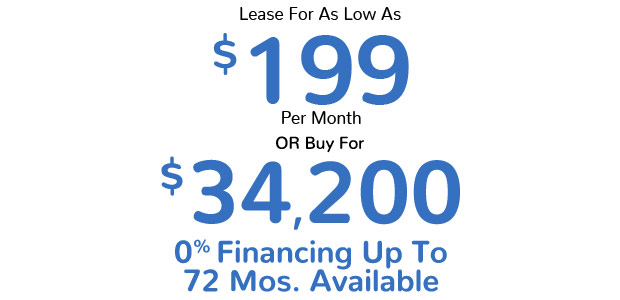 Lease For As Low As $199 Per Month Or Buy for $34,200