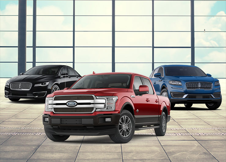 three ford vehicle lineup