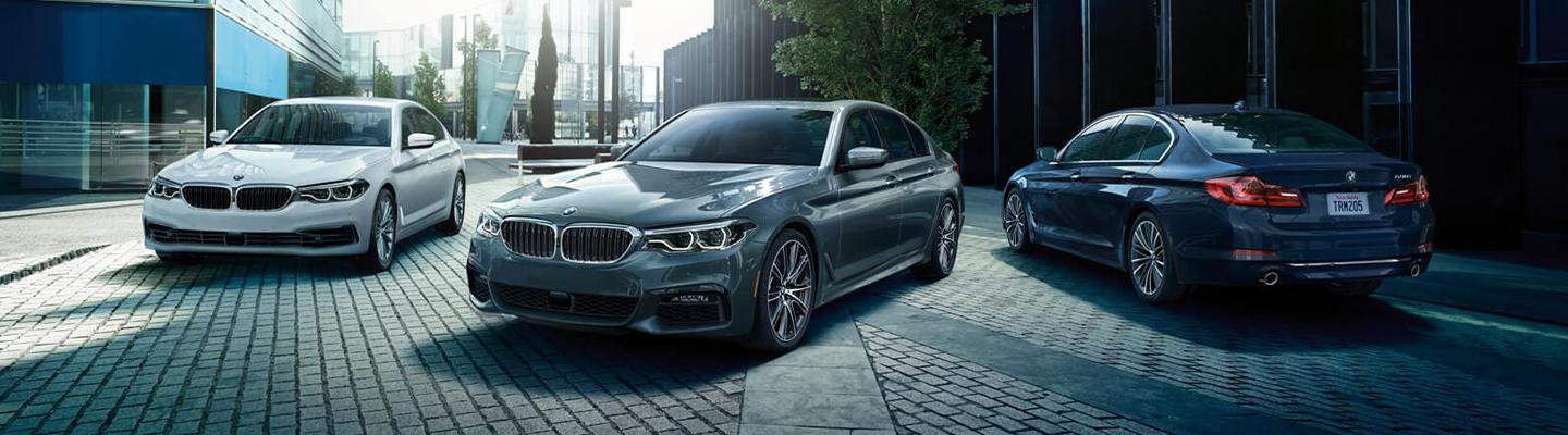 2020 BMW 5 Series vehicles parked next to each other