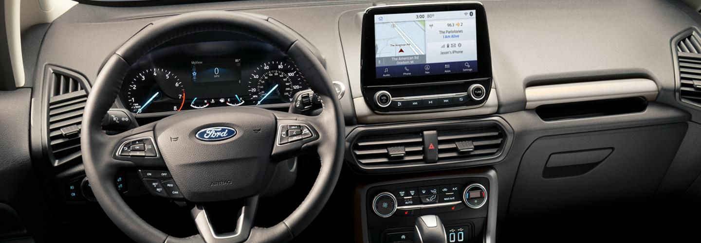 Steering wheel of the 2020 Ford EcoSport available at Coccia Ford
