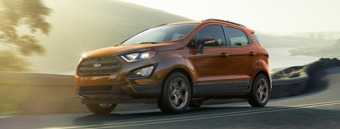 Side view of the 2020 Ford EcoSport in motion