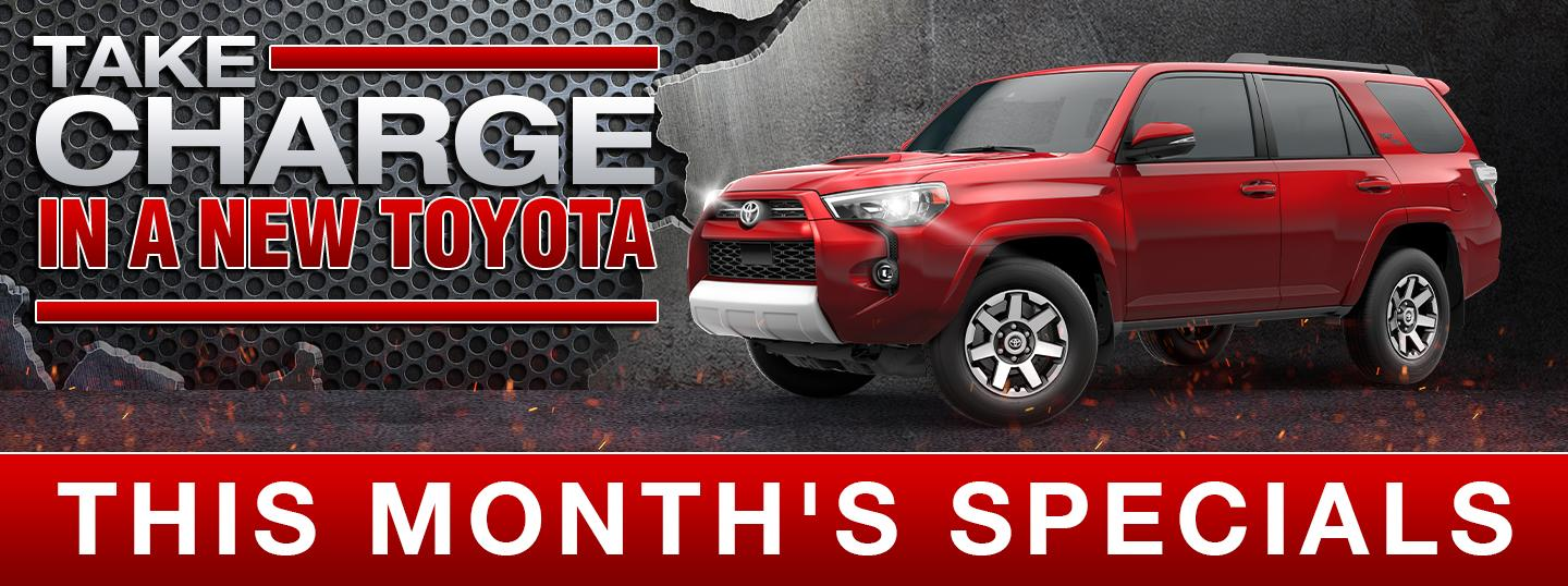 Take charge in a new Toyota