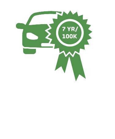 car with ribbon 7 year 100k