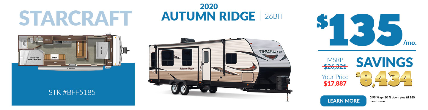 2020 Autumn Ridge $135 per month