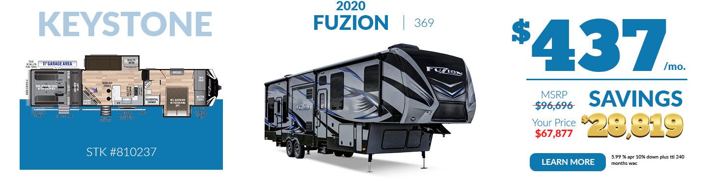 2020 Fuzion $437 per month