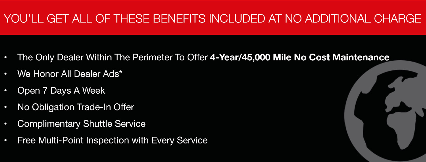 You'll get all of these benefits included at no additional charge