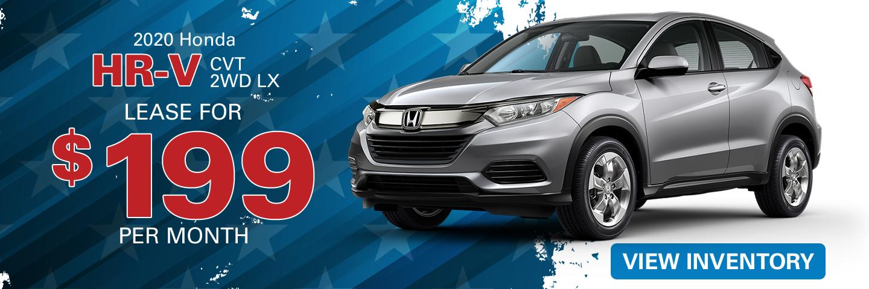 2020 Honda HR-V lease for $199 per month