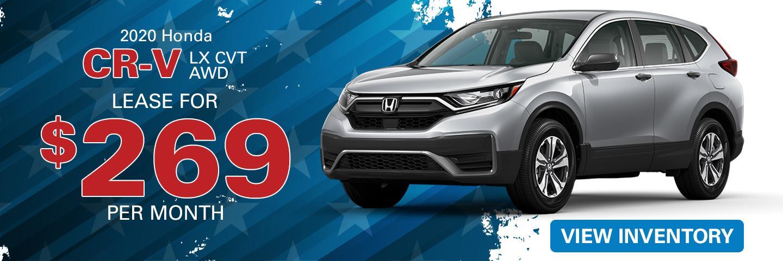 2020 Honda CR-V Lease for 269 per month