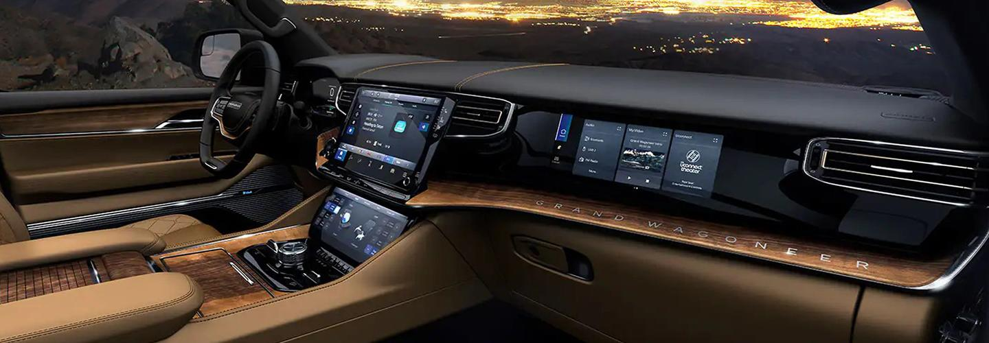 Interior of the new Wagoneer