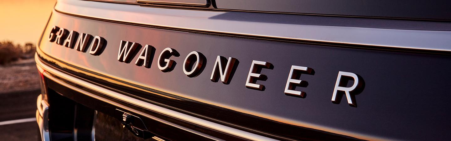 Close up of Wagoneer grille