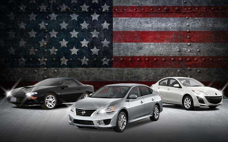1998 Chevrolet Camaro Z28 Coupe - 2013 Nissan Sentra SV Sedan - 2011 Mazda Mazda3 i Touring Sedan