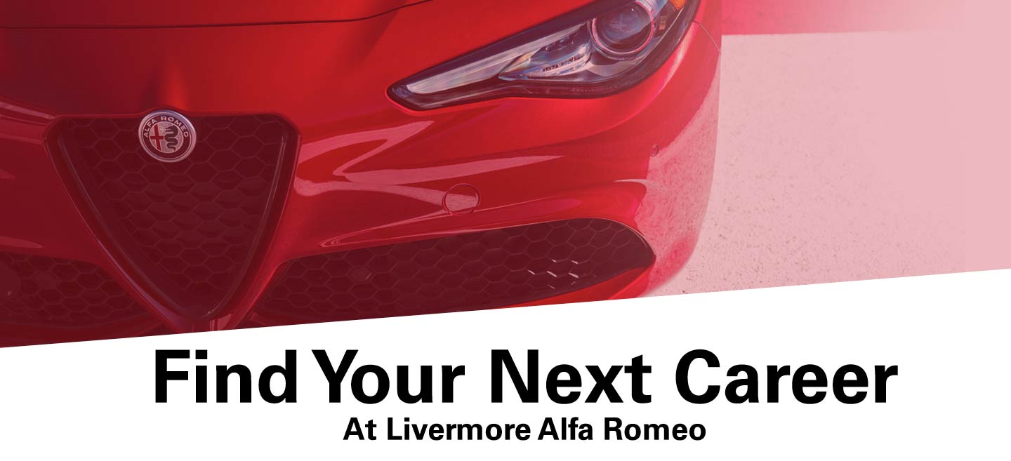 Front of Alfa-Romeo with title Find Your Next Career
