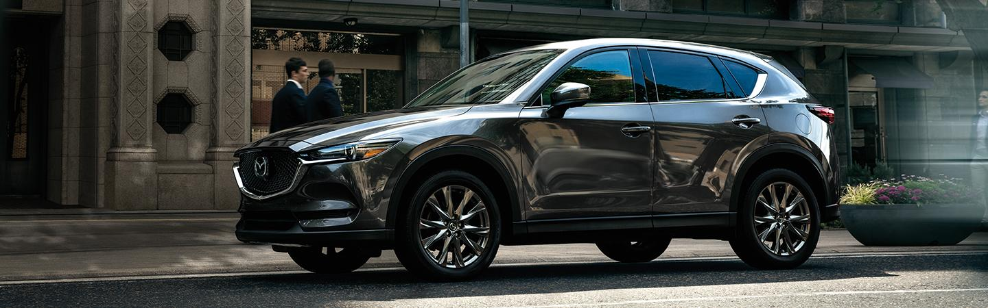 Side view of a 2020 Mazda CX-5 parked