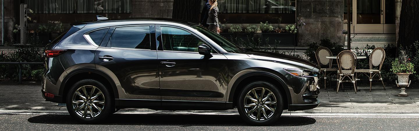 Left side view of the 2020 Mazda CX-5 parked