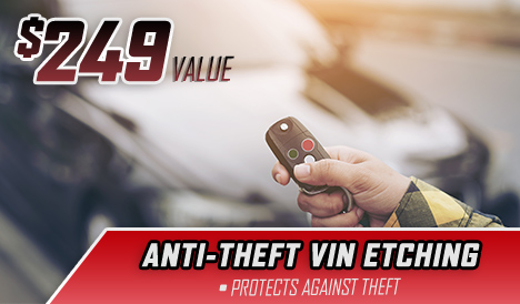 anti-theft vin etching