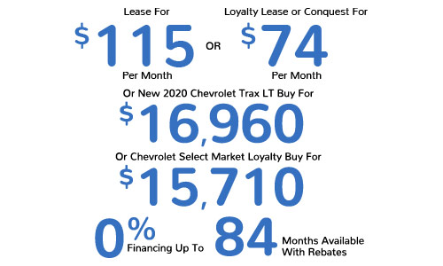 Lease For $115 Per Month Or Loyalty Lease or Conquest For $74 Per Month Or Buy For $16,960 or $15,710 Or 0% Financing For Up To 84 Months Available