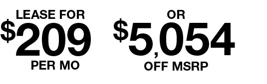 $209 per month or $5054 off msrp