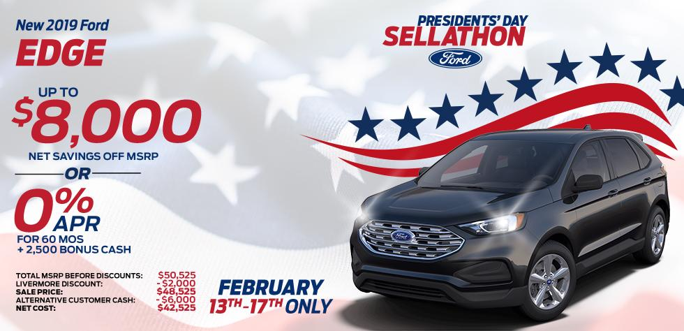 New 2019 Ford Edge - Up To $8,000 net savings off MSRP