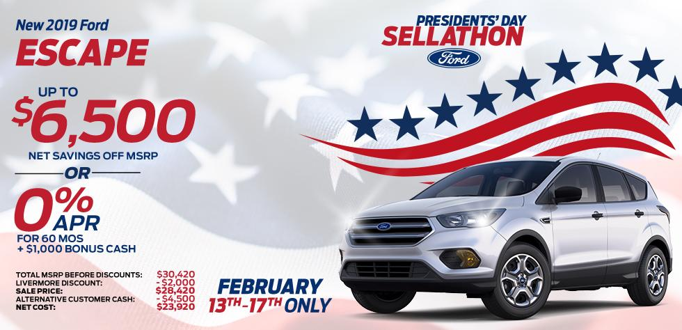 New 2019 Ford Escape - Up To $6,500 net savings off MSRP