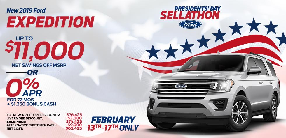 New 2019 Ford Expedition - Up To $11,000 net savings off MSRP