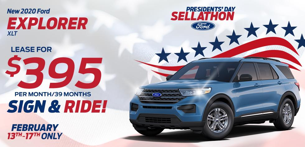 New 2020 Ford Explorer XLT - $395 per month/39 months