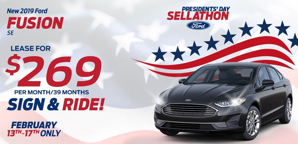 New 2019 Ford Fusion SE - $269 per month/39 months