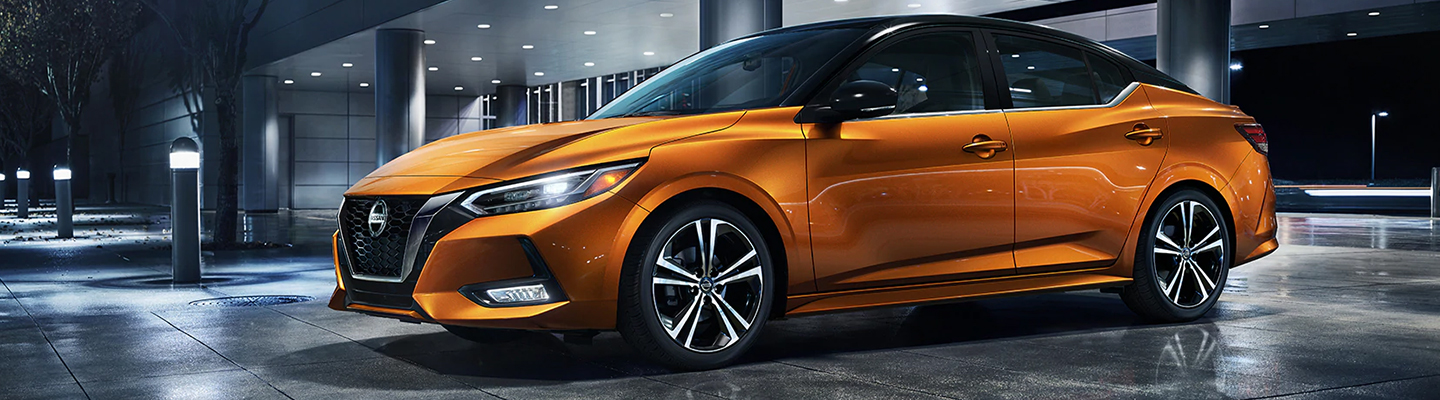 2020 Nissan Sentra in orange metallic at Flagstaff Nissan