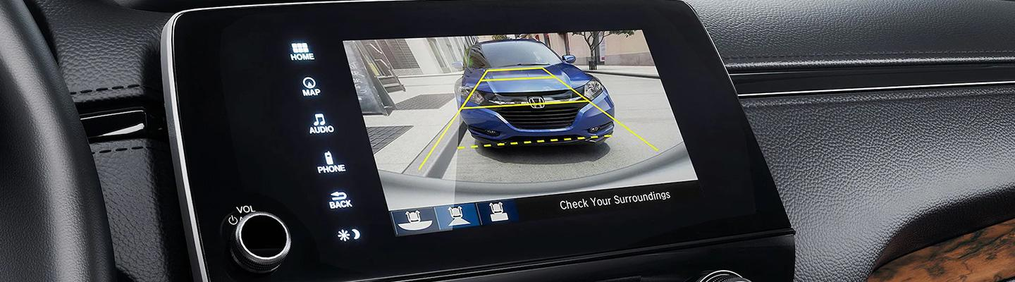 Detailed view of the 2021 Honda CR-V's infotainment system