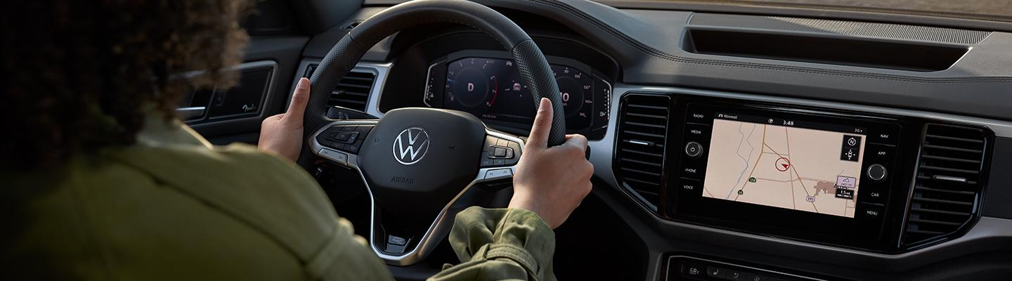 Full front view of the 2021 VW Atlas Cross Sport front dash