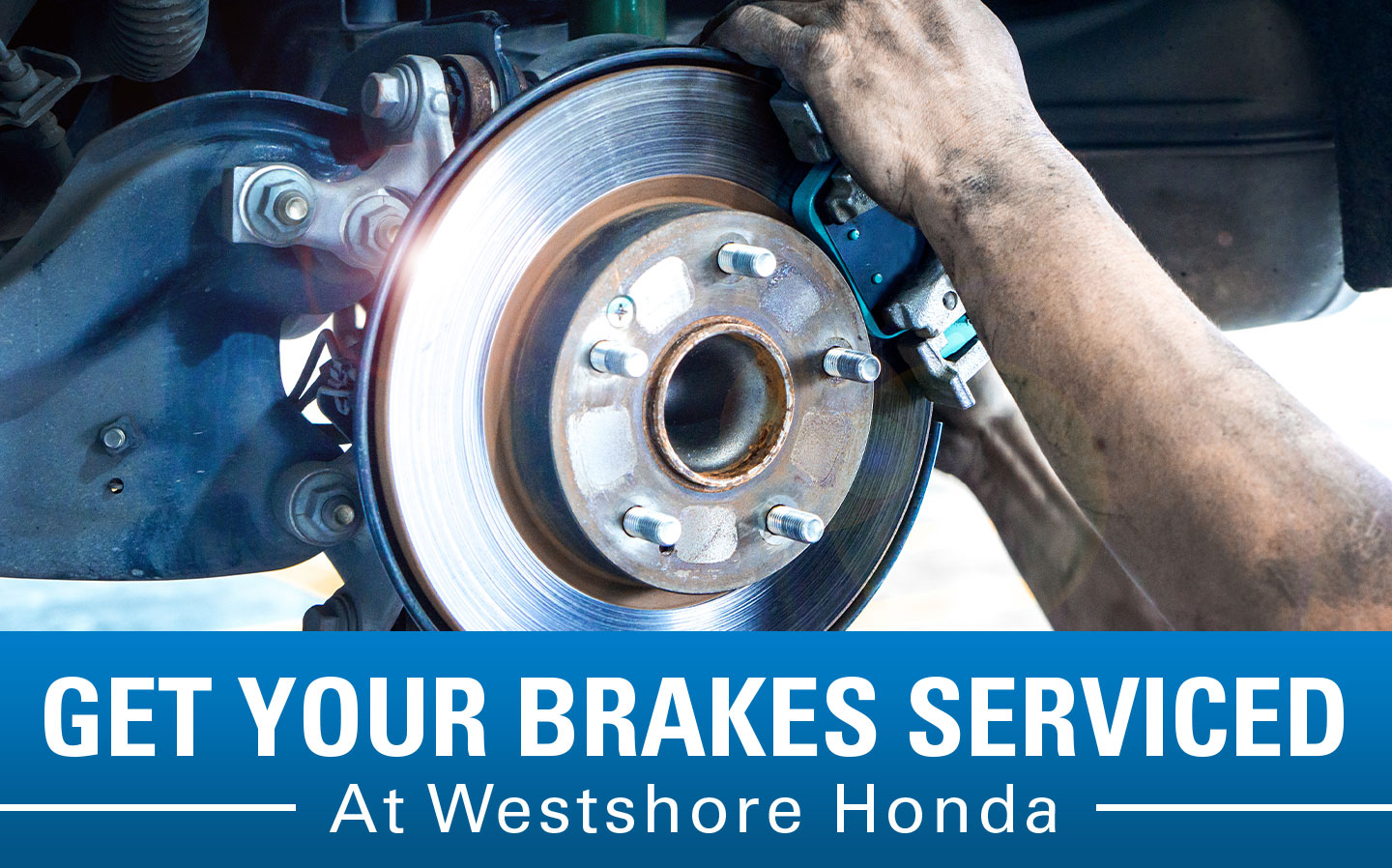 Get your brakes serviced