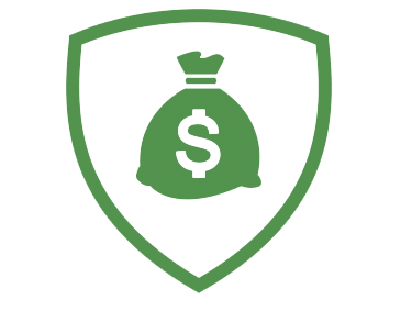 shield with money bag