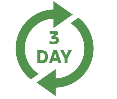 3 day turnaround arrows