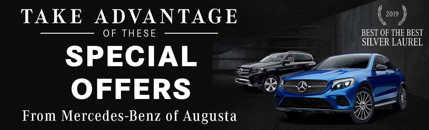 Take Advantage of these special offers from Mercedes-Benz of Augusta