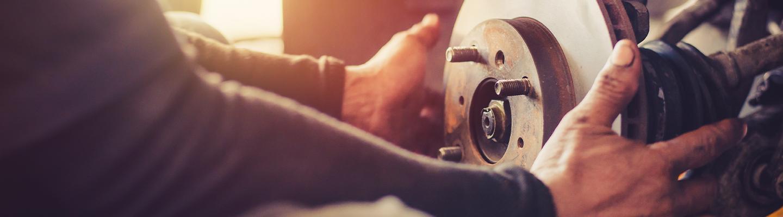 Brake repair service happening at Rountree Moore Nissan