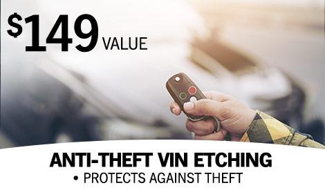anti-theft vin etching