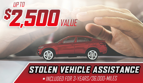 Up To $2,500 Value – Stolen Vehicle Assistance