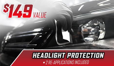$149 Value – Headlight Protection