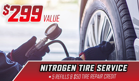 $299 Value – Nitrogen Tire Service