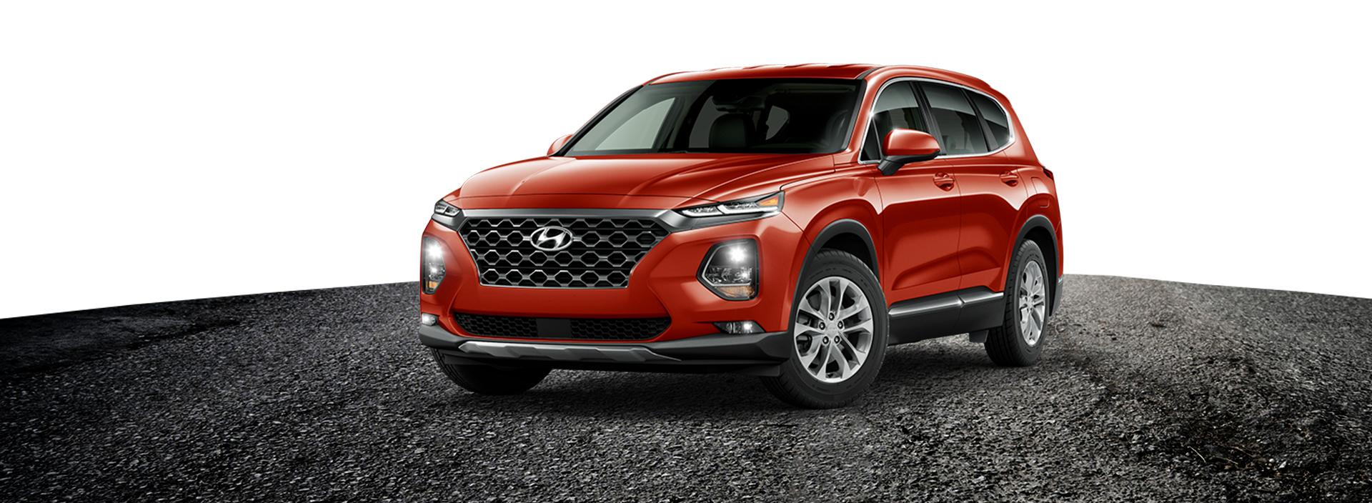 Red Hyundai Sante Fe