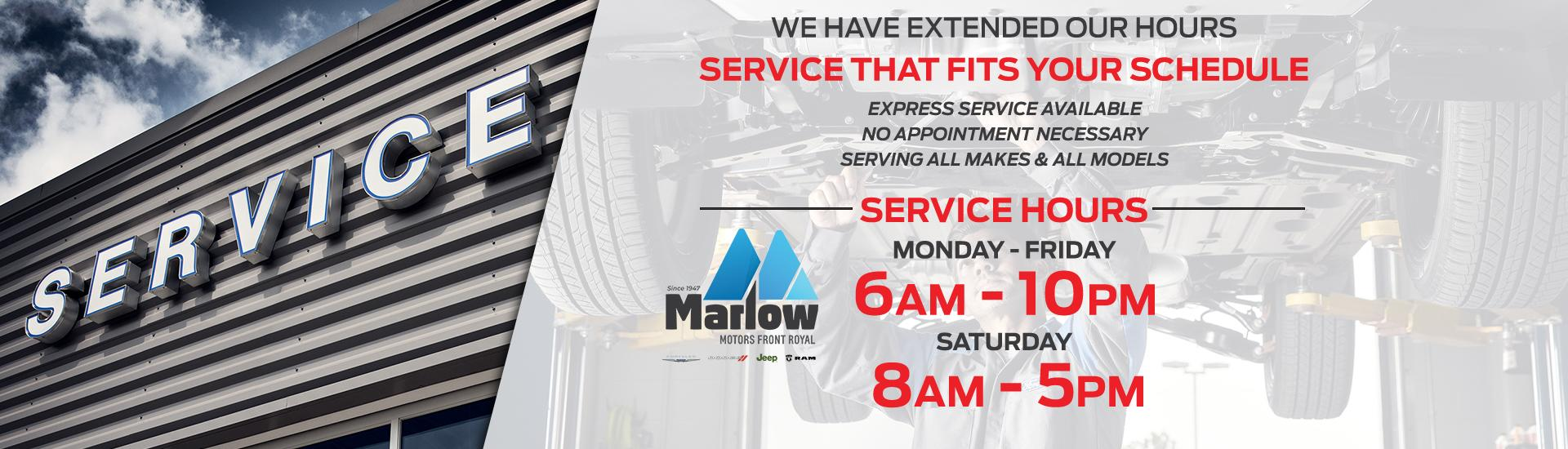 Service That Fits your Schedule